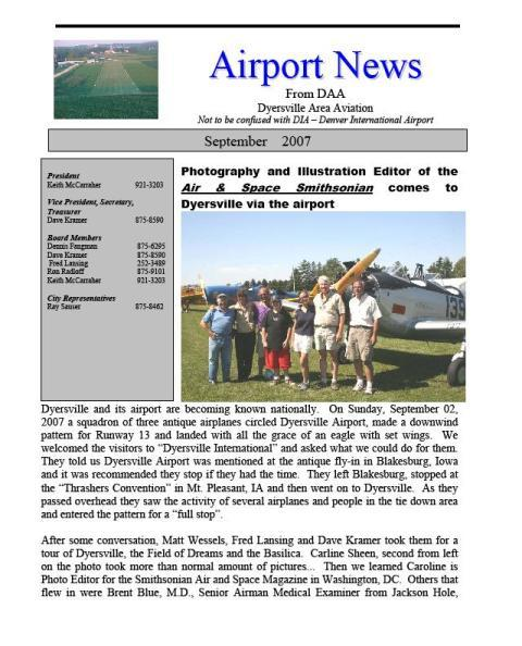 Monthly News Letters